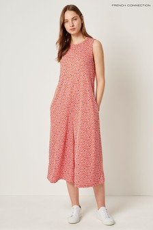French Connection Red Elao Manhatten Culotte Jumpsuit