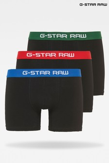 G-Star Hudson Blue Flame Tach Trunk Underwear Three Pack