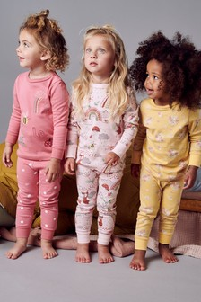 3 Pack Character/Floral Snuggle Pyjamas (9mths-8yrs)