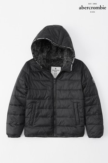 Abercrombie & Fitch Black Padded Coat