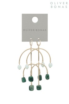Oliver Bonas Multi Tuntea Statement Bar Huggie Earrings