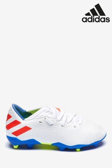 adidas White Redirect Messi Nemeziz FG Junior & Youth Football Boots