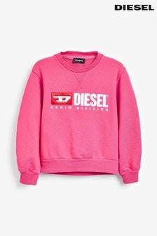 Diesel® Kids Pink Division Logo Sweater