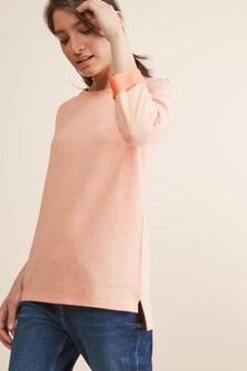 Sweatshirt in Metallic-Optik