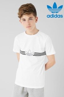 adidas Originals White Outline T-Shirt