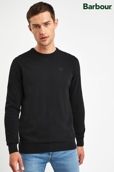 Barbour® Black Essential Crew Neck Jumper