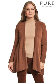 Pure Collection Brown Gassato Swing Cardigan