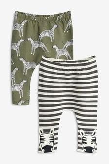 斑馬圖案內搭褲兩件組 (0個月至2歲)