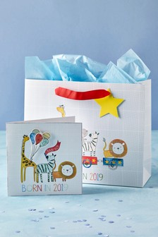 Born In 2019 Gift Bag And Card Set