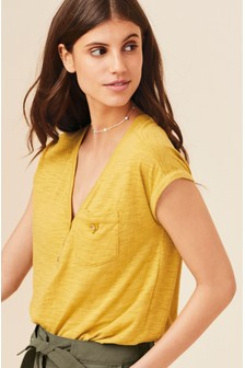 91194d23 Yellow Tops | Yellow Bardot & Cold Shoulder Tops | Next UK
