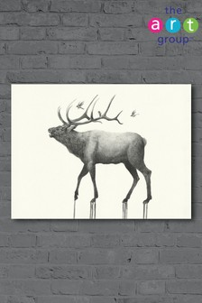 Calling Elk by Oliver Flores Canvas