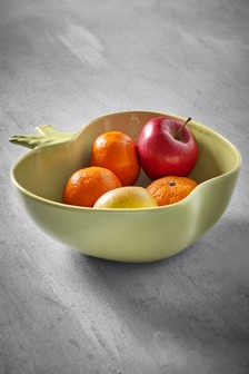 Apple Shaped Ceramic Fruit Bowl