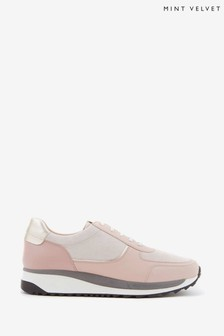 Mint Velvet Alina Pink Sporty Trainers