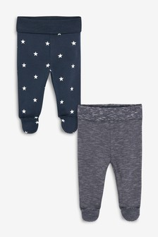2 Pack Star And Stripe Leggings (0mths-2yrs)