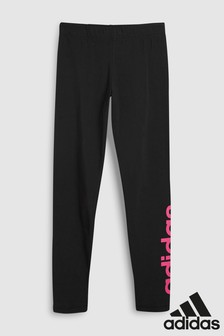 adidas Black/Pink Linear Legging