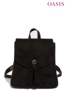 Oasis Black Apron Flapover Backpack