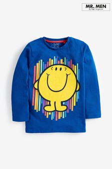 חולצת טי עם שרוולים ארוכים Mr Happy (3 חודשים-8 שנים)