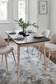Stockholm Black 6-8 Seater Dining Table
