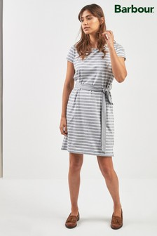 Barbour® Grey Stripe Belted Rowlock Dress