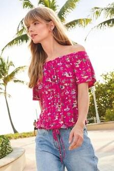 89a7ff2c8b6485 Off The Shoulder T Shirts | Bardot T Shirts | Next UK