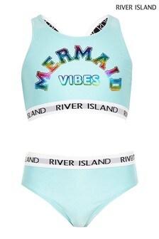 River Island Mermaid Crop Top Bikini