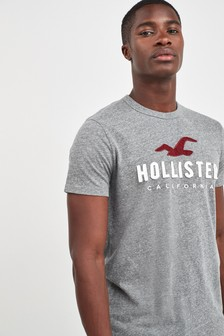 Hollister Grey Short Sleeve Icon Tee