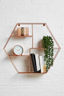 Rose Gold Hexagon Shelf