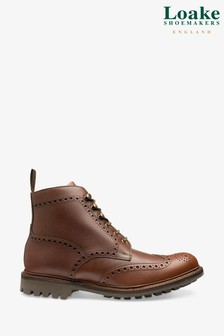 Loake Brown Glendale Brogue Boots