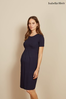 Granatowa, ciążowa sukienka Isabella Oliver Catherine