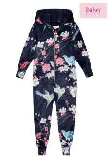 baker by Ted Baker Blue Bkg Aio Velour Pyjama