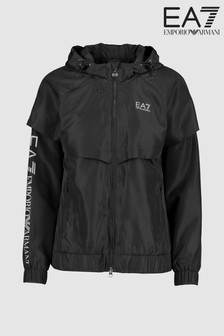 EA7 Black Water Repellent Wind Proof Reflective Jacket