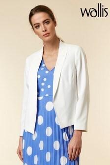 Wallis White Shawl Collar Jacket