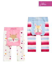 Joules Pink Baby Lively Legging Two Pack