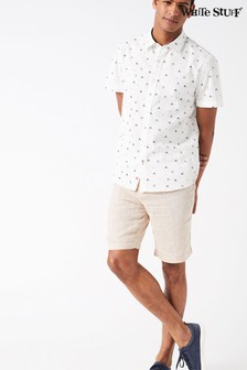 White Stuff Natural Banbury Linen Short