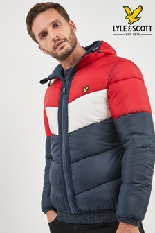 Lyle & Scott Red Colourblock Padded Jacket