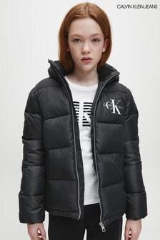 Calvin Klein Jeans Black Essential Padded Jacket
