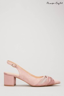 Phase Eight Pink Giselle Block Heels