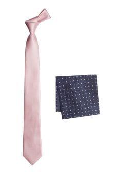Текстурированный галстук и платок для пиджака