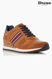 Dune London Tan Truro Stripe Webbing Runner Shoes