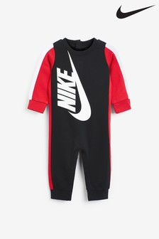 Nike Newborn Boys Black Baby Amplify Logo Pramsuit