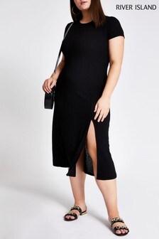 River Island Curve Black Jersey Dress