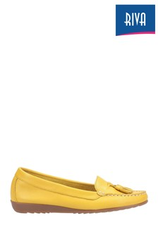 Riva Yellow Aldons Snafles Moccasins