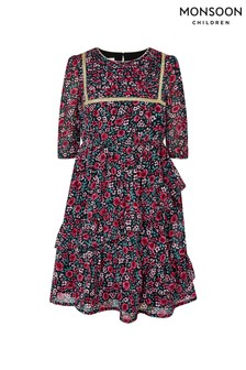 Monsoon Red Ditsy S.E.W Dress