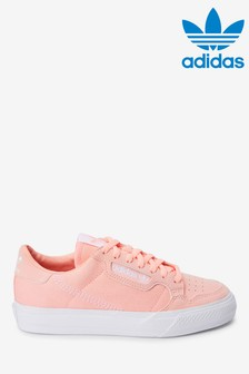 adidas Originals Pink Continental 80 Vulc Youth Trainers