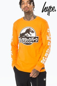 Hype. Orange Japanese Distressed T-Shirt