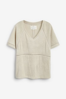 Textured Jersey T-Shirt