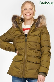 Barbour® Coastal Navy Blue & Green Bayside Puffer Quilted Jacket