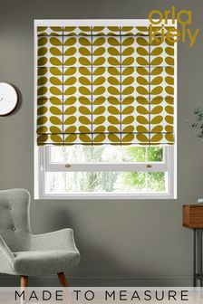 Two Colour Stem Made To Measure Roman Blind by Orla Kiely