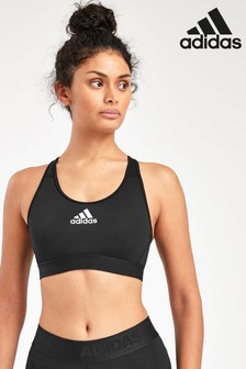 adidas Black Don't Rest AlphaSkin Medium Support Bra