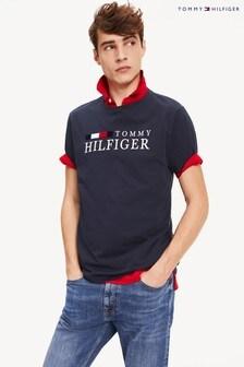 Tommy Hilfiger Blue Bold Branded T-Shirt